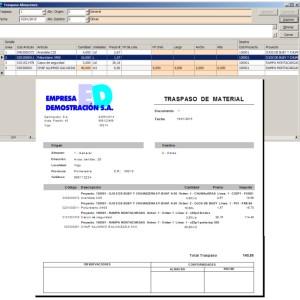 Traspasos de Materiales y Herramientas entre Almacenes/Obras
