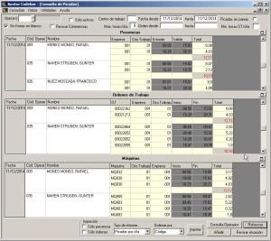 Monitorización Presencia de Operarios y Tiempos de Trabajo